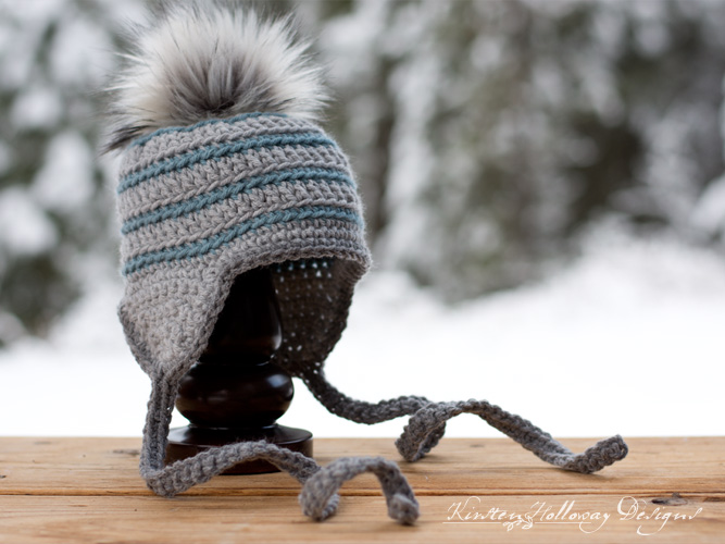 This quick winter hat uses basic stitches to create a simple, but pleasing texture. The pattern comes in 4 sizes and has several finishing options to choose from including earflaps, and a pom-pom.