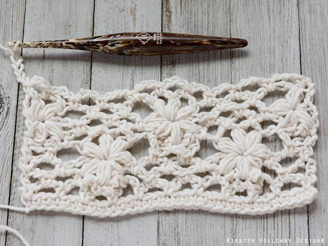 Crochet flower tutorial step 32 -