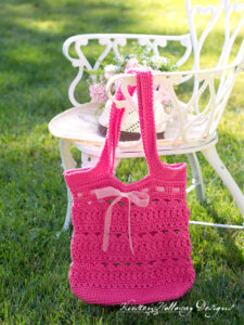 The Secret Garden market bag free crochet pattern.