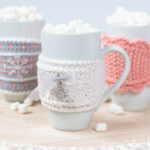 3 different cup cozy crochet patterns.