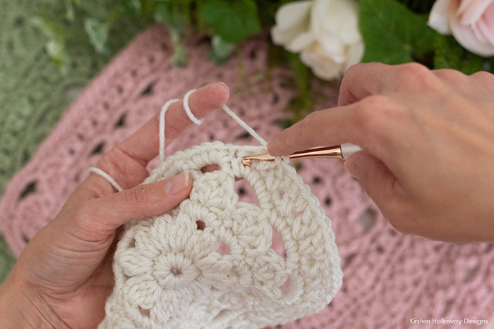 How to crochet the cross-stitch increase stitch, part 2.