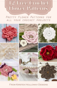 Free crochet flower patterns for decorating hats, headbands, purses and more!