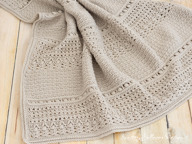Look at all the gorgeous vintage-style textures in this classic baby blanket crochet pattern!