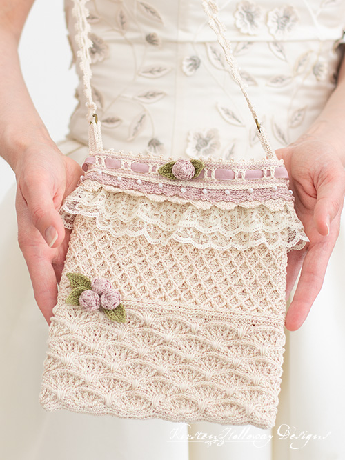 Crochet a beautiful vintage-style wedding bag for the bride with this free pattern.